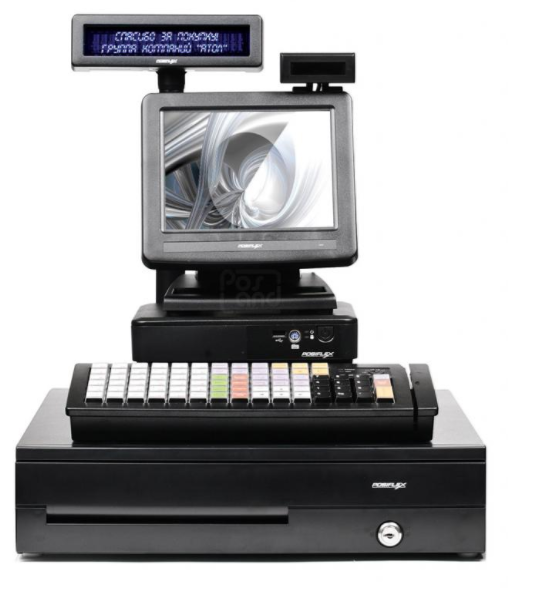"POS-комплект 8"" TX-2100 черный, LM-2008, PD-2800, CR-4000, KB-6600 MSR, Windows POSReady 7"